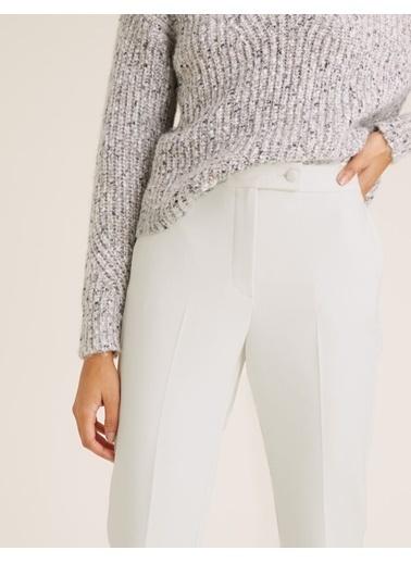 Marks & Spencer Mia Slim Ankle Grazer Pantolon Beyaz